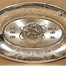 NEW YORK WORLDS FAIR 1964 1965 TRAY DISH SERVING PLATTER PLATE SILVER PLASTIC