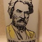 GLASS MARK TWAIN HOME FROSTED HAZEL ATLAS MISSOURI STATE MONUMENT NATIONAL 1950s