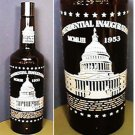 1953 DWIGHT EISENHOWER INAUGURAL MR BOSTON LIQUOR BOTTLE NICE