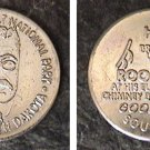 TEDDY ROOSEVELT GOOD LUCK TOKEN SOUVENIR NATIONAL PARK MEDORA NORTH DAKOTA METAL