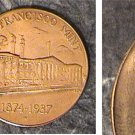 SAN FRANCISCO MINT BRONZE MEDAL UNITED STATES TREASURY 1874 1937 COMMEMORATIVE