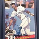 DAMASCO GARCIA SIGNED 1986 DONRUSS ACTION ALL STARS AUTOGRAPH BASEBALL CARD