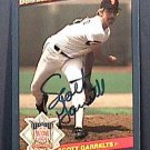 SCOTT GARRELTS SIGNED 1986 DONRUSS ACTION ALL STARS AUTOGRAPH BASEBALL CARD