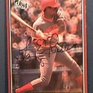 GARY REDUS SIGNED 1984 DONRUSS ACTION ALL STARS AUTOGRAPH BASEBALL CARD