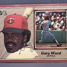 GARY WARD SIGNED 1983 DONRUSS ACTION ALL STARS AUTOGRAPH BASEBALL CARD