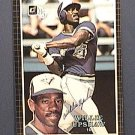 WILLIE UPSHAW SIGNED 1985 DONRUSS ACTION ALL STARS AUTOGRAPH BASEBALL CARD