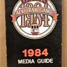 1984 SAN FRANCISCO GIANTS BASEBALL INFORMATION MEDIA GUIDE FRANK ROBINSON BRENLY