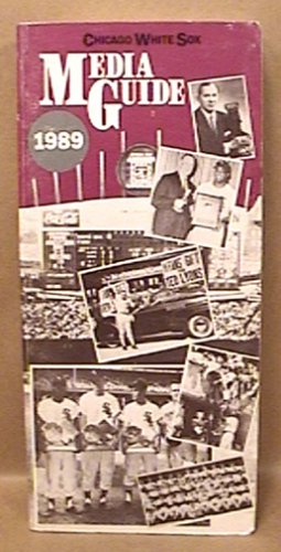 1989 CHICAGO WHITE SOX BASEBALL MEDIA GUIDE BAINES FISK GUILLEN KITTLE