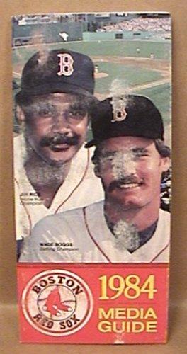 1984 BOSTON RED SOX BASEBALL MEDIA GUIDE BOGGS RICE