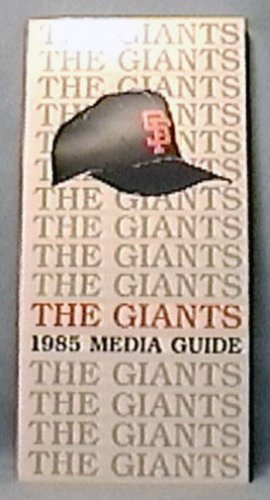 1985 SAN FRANCISCO GIANTS BASEBALL INFORMATION MEDIA GUIDE BAKER BRENLY DAVIS