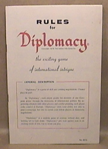 AVALON HILL DIPLOMACY GAME RULES BOOK 1976 INTERNATIONAL INTRIGUE