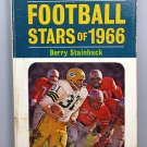 FOOTBALL STARS OF 1966 NFL PAPERBACK PYRAMID BOOK BERRY STAINBACK