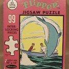 FLIPPER JIGSAW PUZZLE 1967 TV VINTAGE WHITMAN 99 piece IVAN TORS FILMS