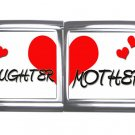 New 18mm Mega photo Italian Charm 2 Set -- Heart Mother Daughter