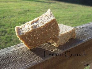 Lemon Crunch 100% Natural soap