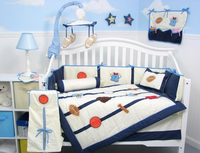 All Star Sports Baby Boy Infant Crib Nursery Bedding Set 15pcs