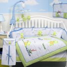 Dancing Frogs Baby Infant Crib Nursery Bedding Set 15pc