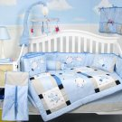 Baby Aviator Baby Infant Crib Nursery Bedding Set 15pcs