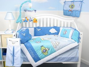 Sea World Adventure Baby Infant Crib Nursery Bedding Set 15pcs