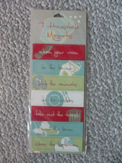 NEW Refrigerator Magnets Chores List Kids Household NIP