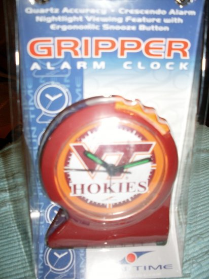 NEW Virginia Tech VA Hokies Desk Alarm Clock NIP