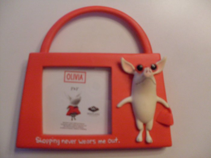 Kids Picture Frame Olivia Pig Shopping Never Wears Me Out