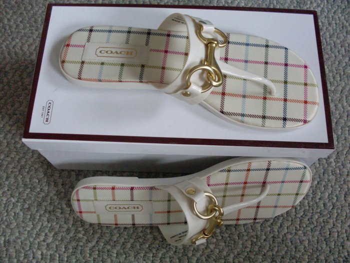 NEW Coach Rikki Ivory Sandals Size 6.5 new in box