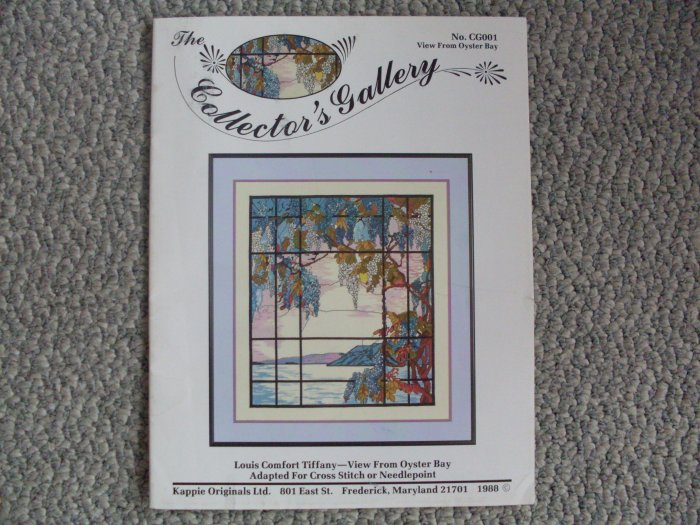 Cross Stitch Booklet Tiffany Window View from Oyster Bay