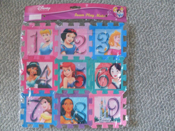 New Disney Princess Foam Play Puzzle Mat Mulan Jasmine