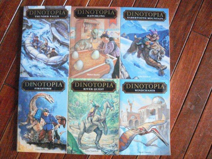 Dinotopia 6 PB Chapter Book Lot RL 5-6 dinosaur series