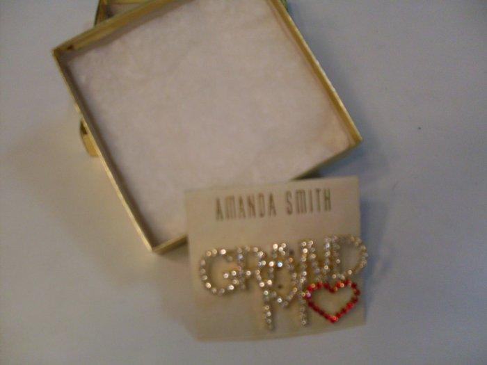 New GRANDMA Amanda Smith carded pin jewelry brooch