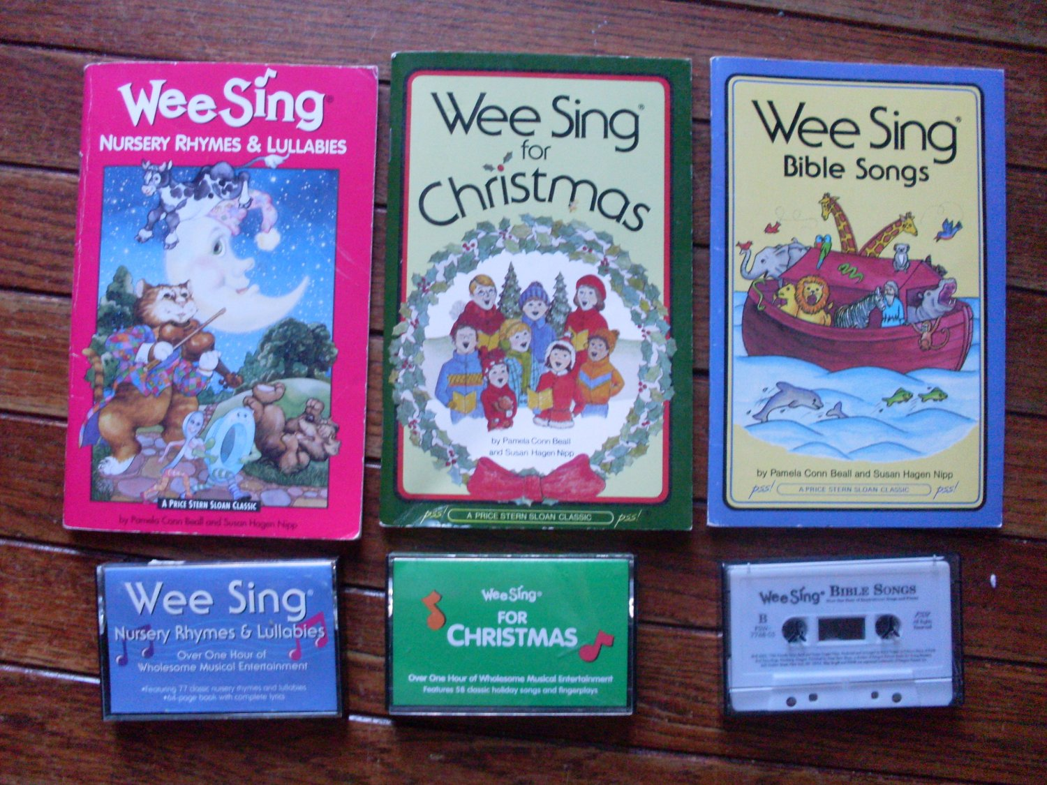 Lot 3 Wee Sing Books and music cassette tapes