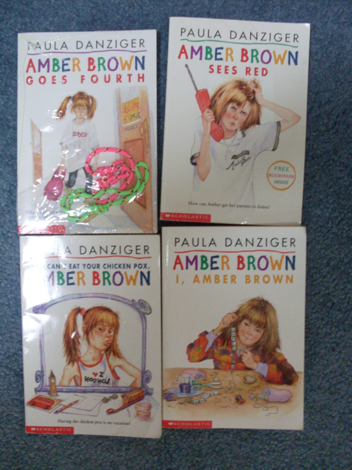 Amber Brown 4 PB Chapter Book Lot RL 3 & bonus bracelets