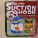 NEW Christmas Suction Hooks Pack of 2 snowman & bell