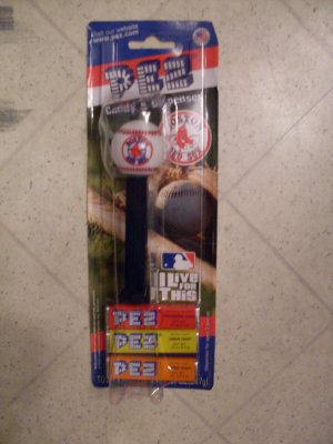 NEW Boston Red Sox Pez Dispenser and candy