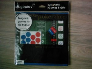 NEW Magnetic Poker Dice Refrigerator game