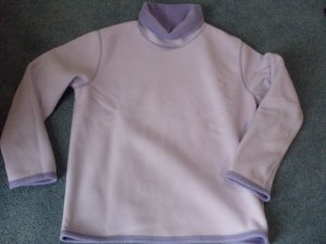 Coldwater Creek Lilac Reversible Turtleneck Top Small