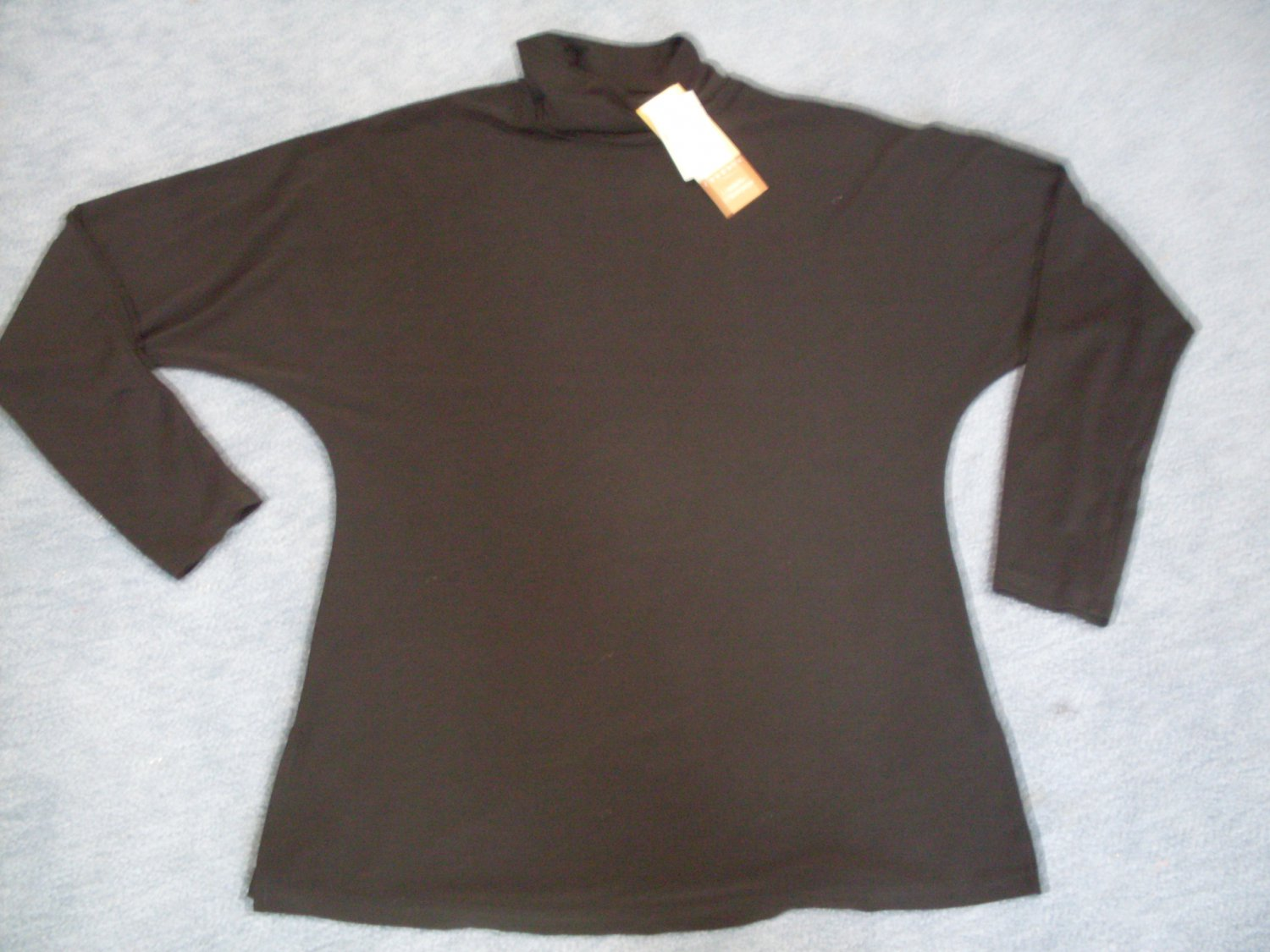 NEW Coldwater Creek Black Travel Knit Turtleneck Top Small