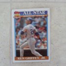 Ken Griffey Jr. Topps Baseball Card 1991 All Star