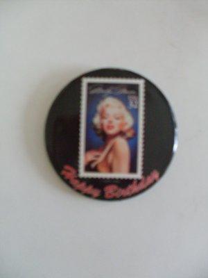Marilyn Monroe US Postage Stamp Pinback Button 1995 Happy Birthday