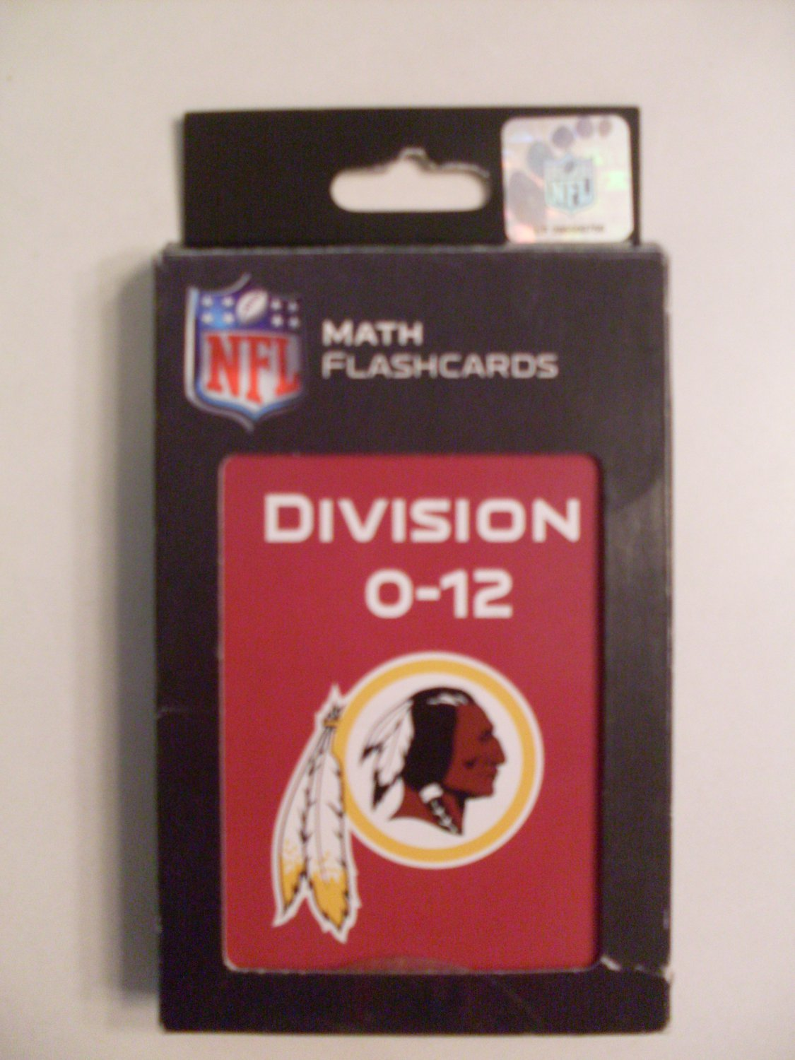 NEW NFL Redskins Flash Cards Division Facts 0-12