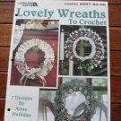 Lovely Wreaths to Crochet 1994 Leisure Arts Leaflet
