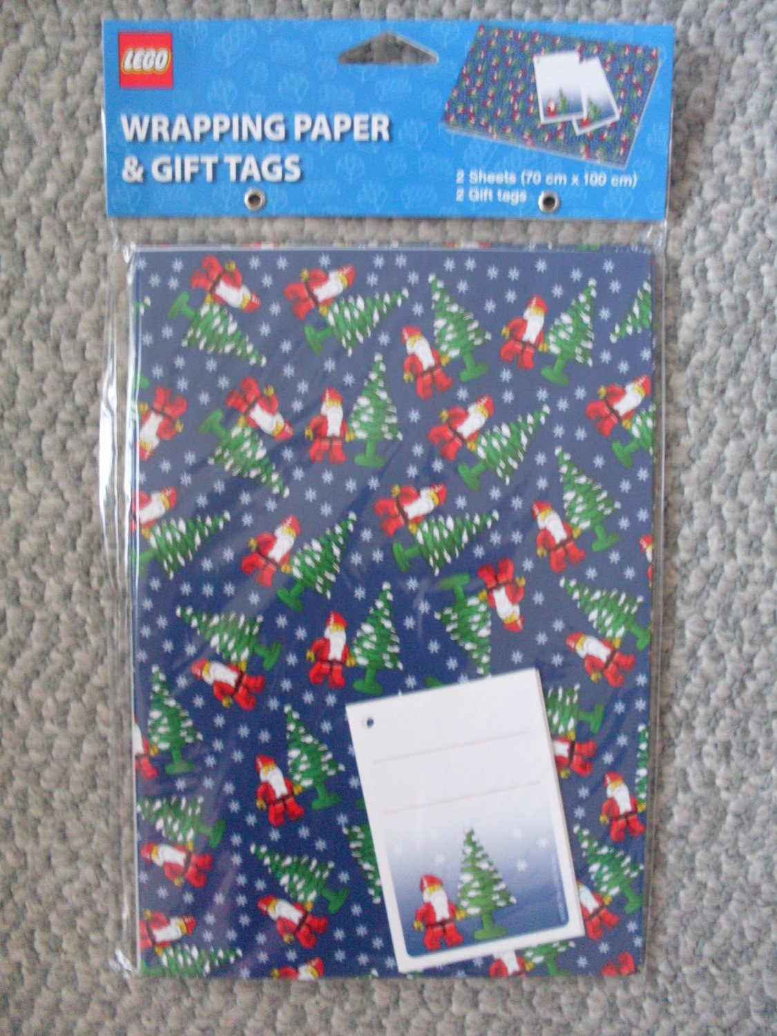NEW Lego Christmas Gift Wrap Wrapping Paper NIP