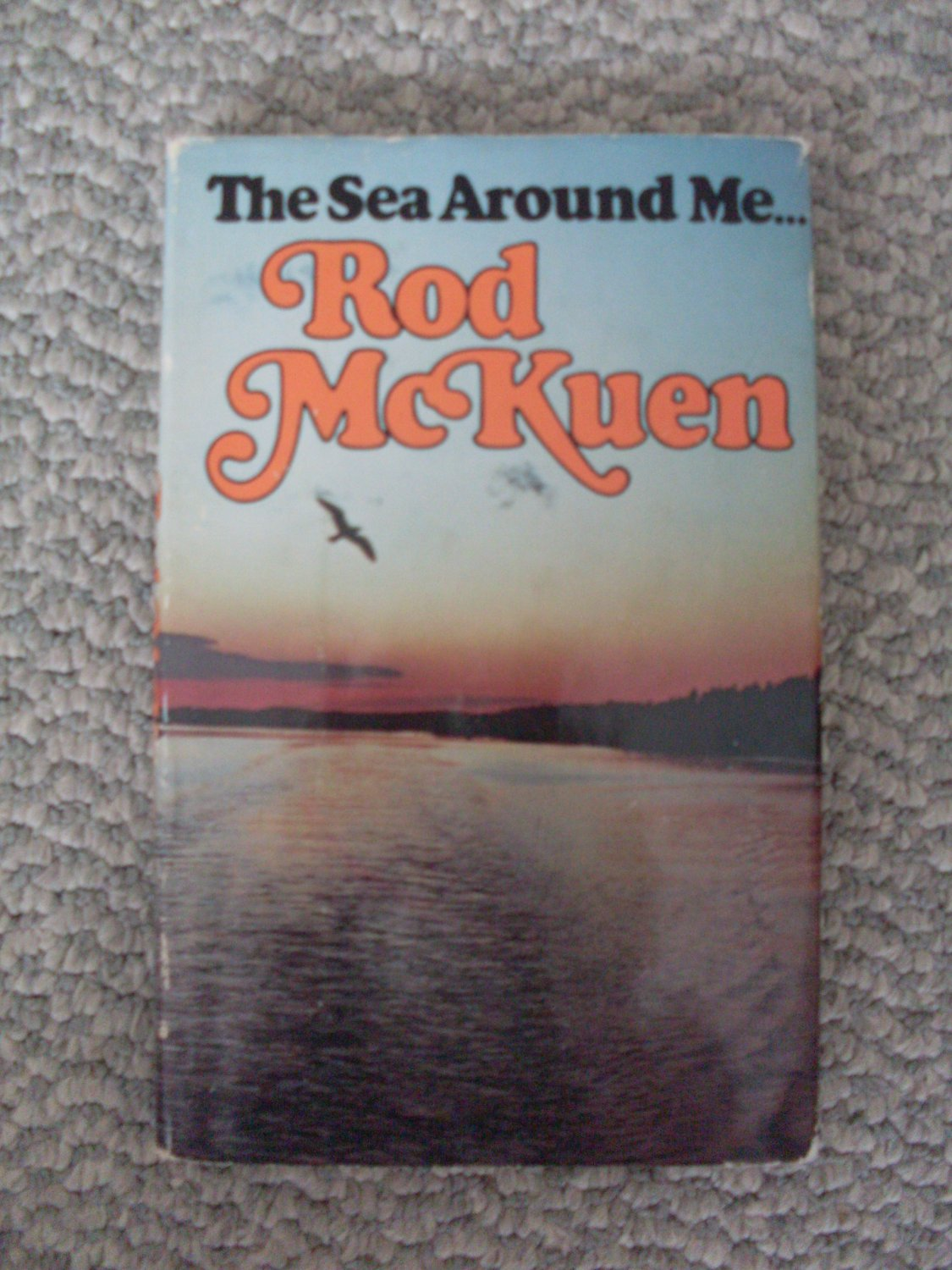 1977 HC Poetry Book Rod McKuen The Sea Around Me