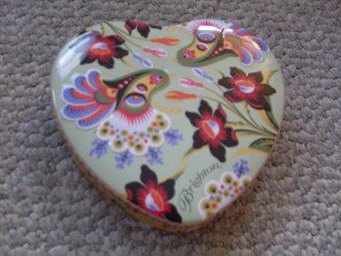 Heart Shaped Trinket Box Brighton Tin