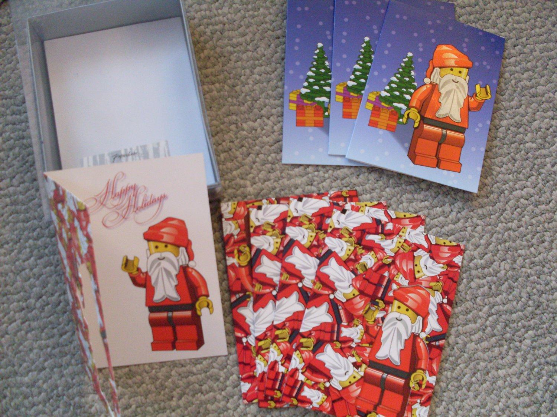 LEGO Christmas Cards Lot of 8 w/envelopes
