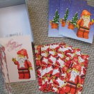 LEGO Christmas Cards Lot of 8 w/envelopes