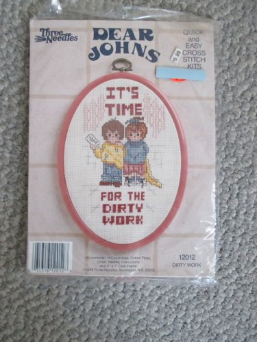 NEW Dear Johns needlework Cross Stitch Kit with frame