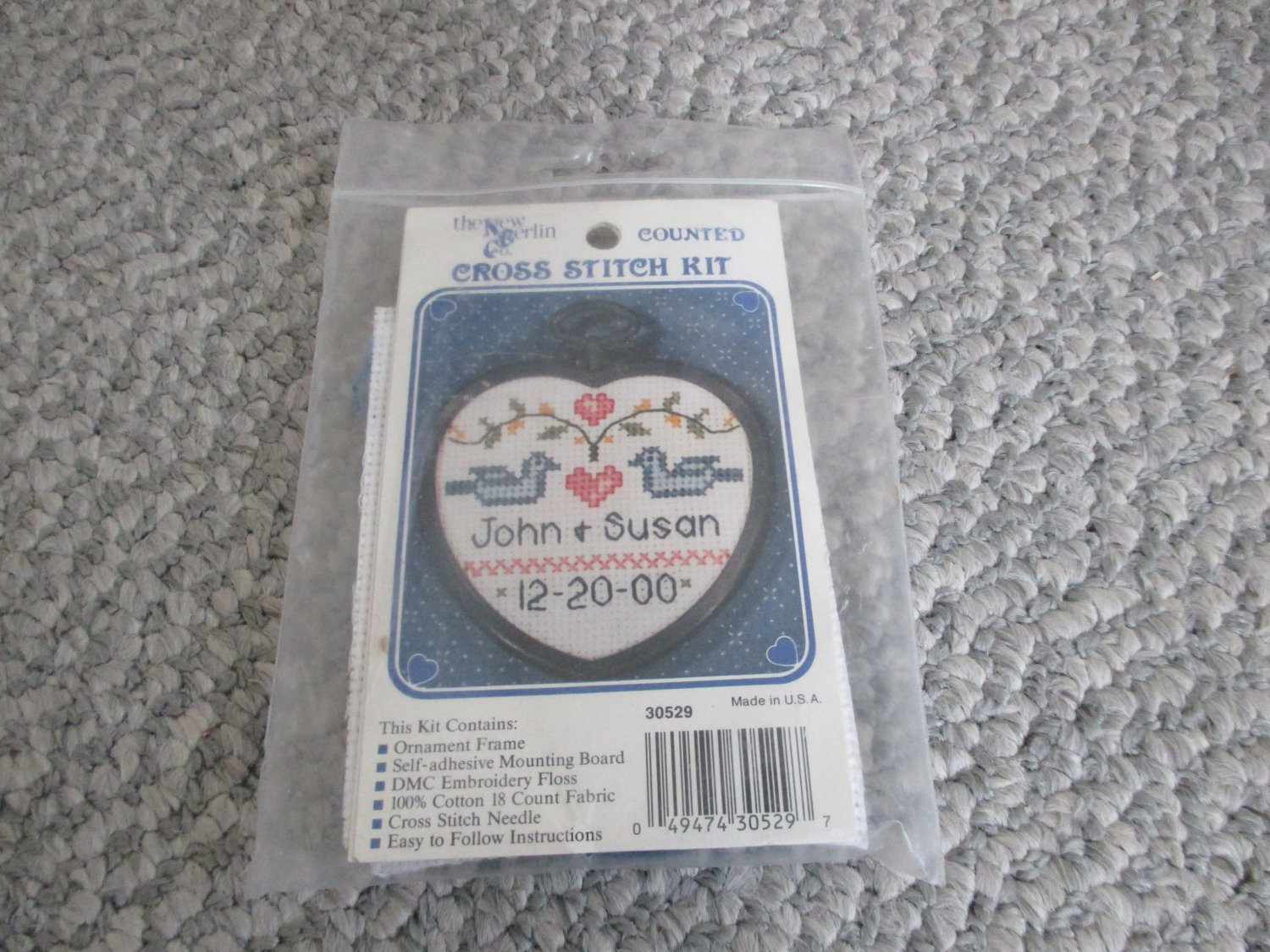 NEW Wedding Anniversary needlework Cross Stitch Kit with frame