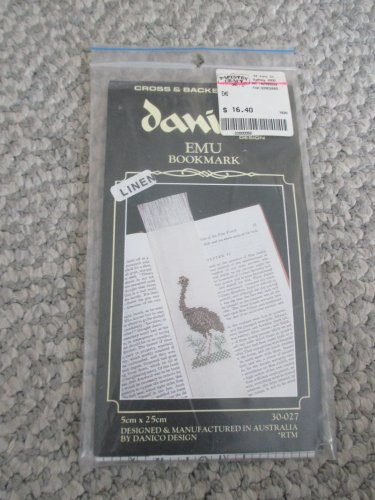 NEW Emu Linen Bookmark Cross Stitch Kit Australia